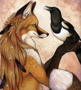 Лисица и ворон