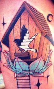 Татуировка скворечник