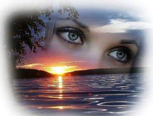 Целую я твои глаза...